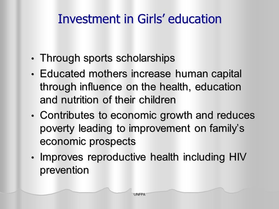 Investment in Girls' education