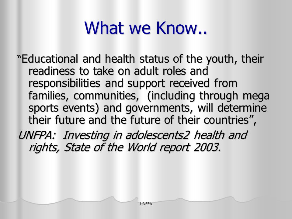 What we Know..