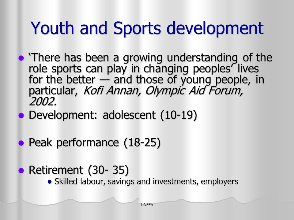 Youth and Sports development
