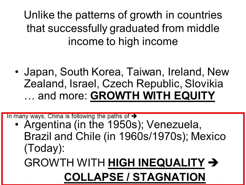GROWTH WITH HIGH INEQUALITY  COLLAPSE / STAGNATION
