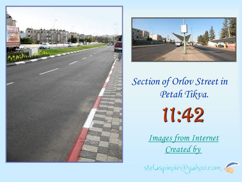 Section of Orlov Street in Petah Tikva.
