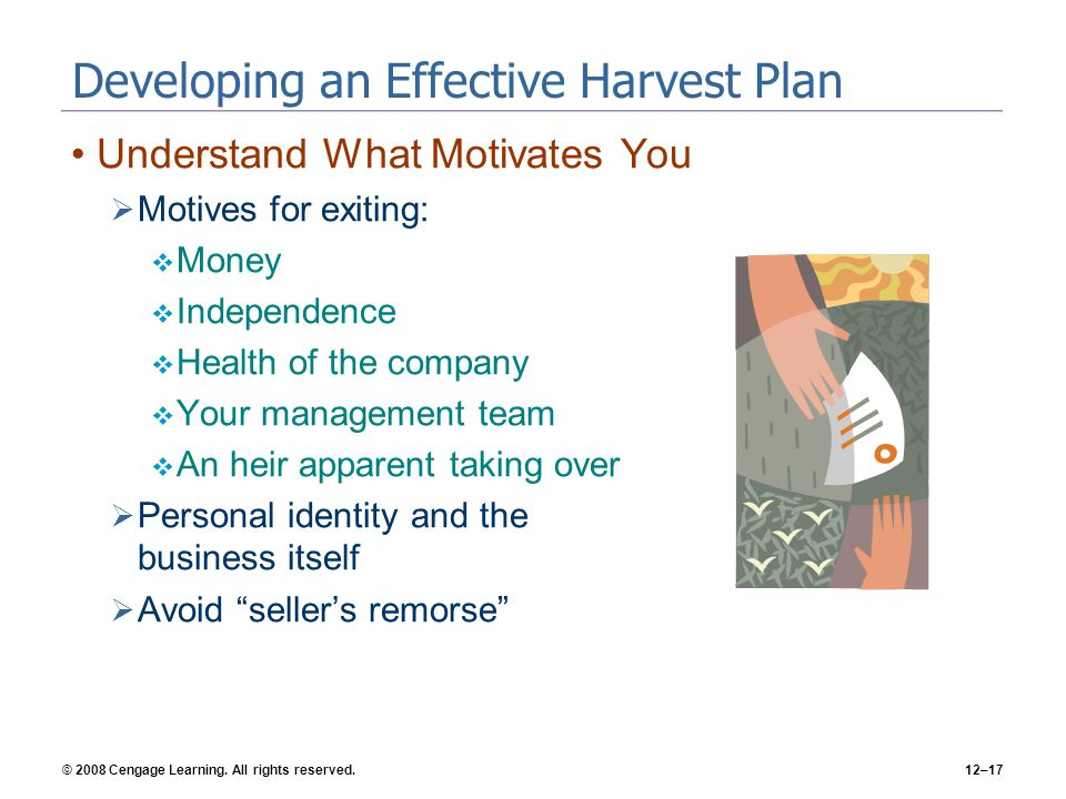 Developing an Effective Harvest Plan