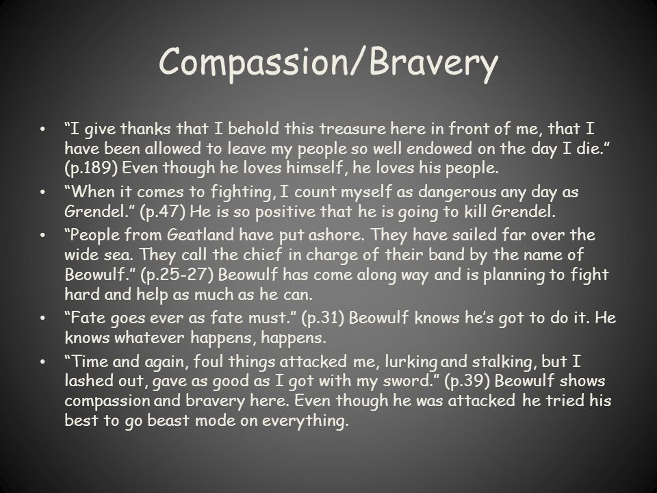 Compassion/Bravery