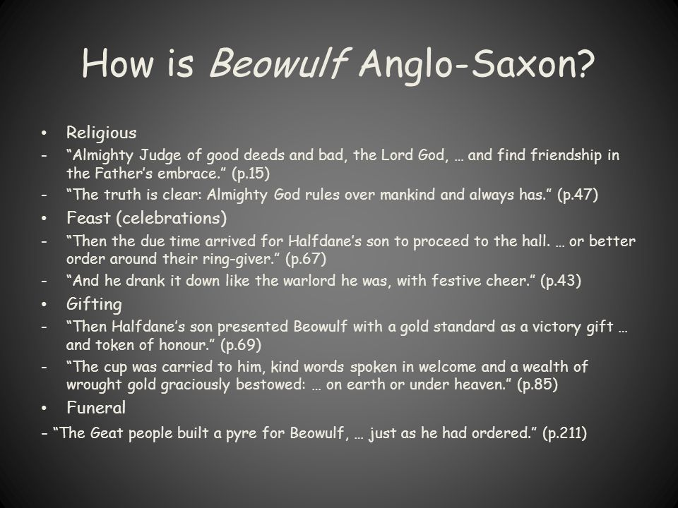 How is Beowulf Anglo-Saxon