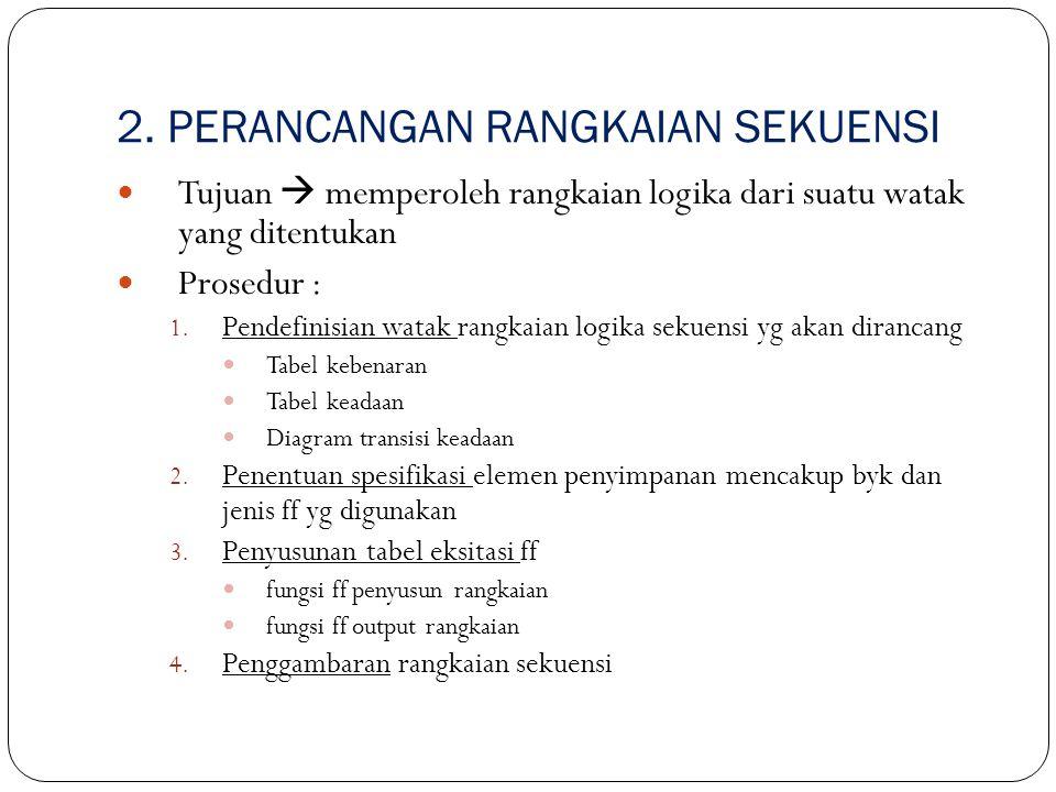 2. PERANCANGAN RANGKAIAN SEKUENSI