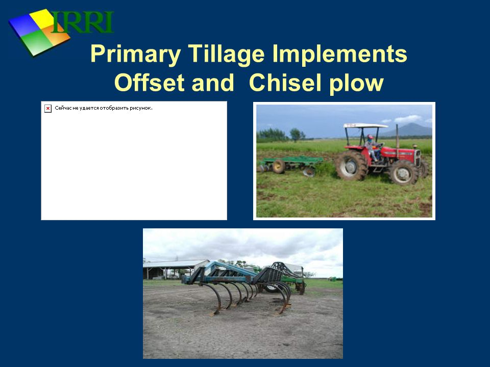 Primary Tillage Implements Offset and Chisel plow