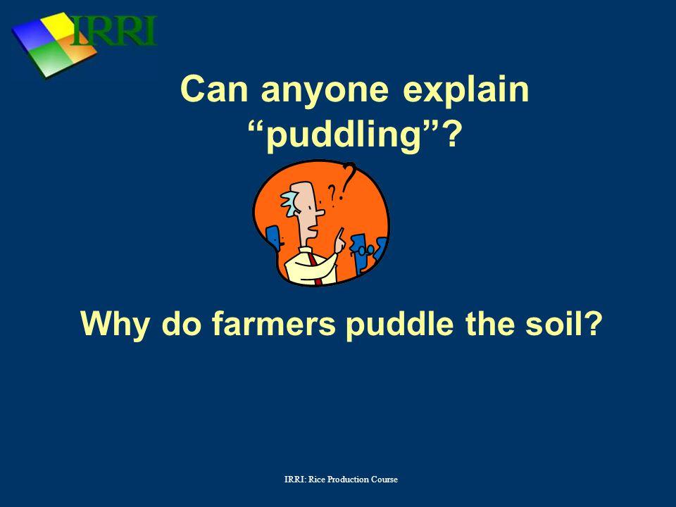 Can anyone explain puddling