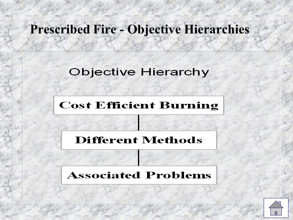 Prescribed Fire - Objective Hierarchies