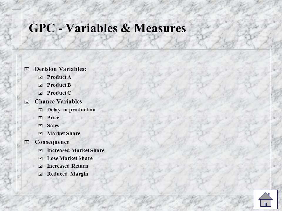 GPC - Variables & Measures