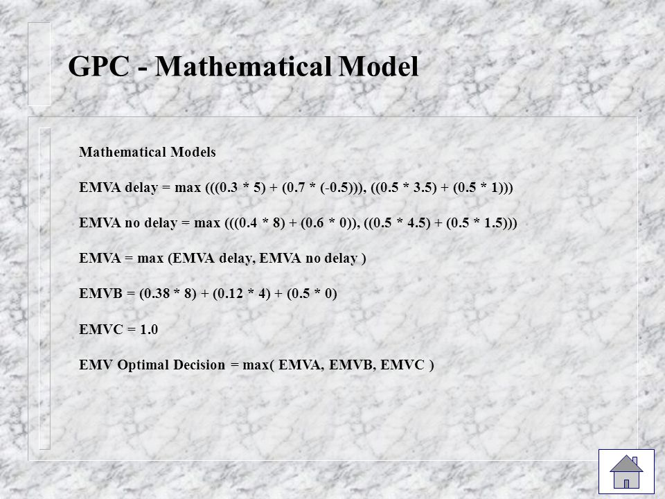 GPC - Mathematical Model