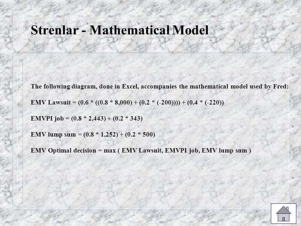 Strenlar - Mathematical Model