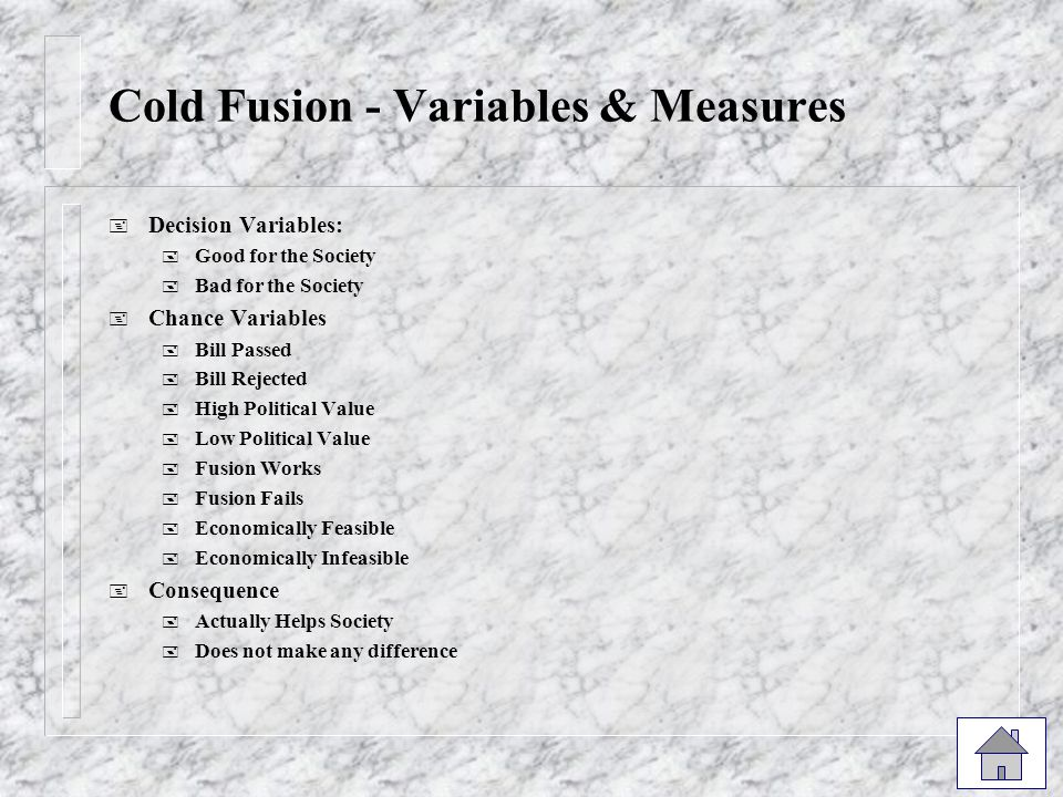 Cold Fusion - Variables & Measures