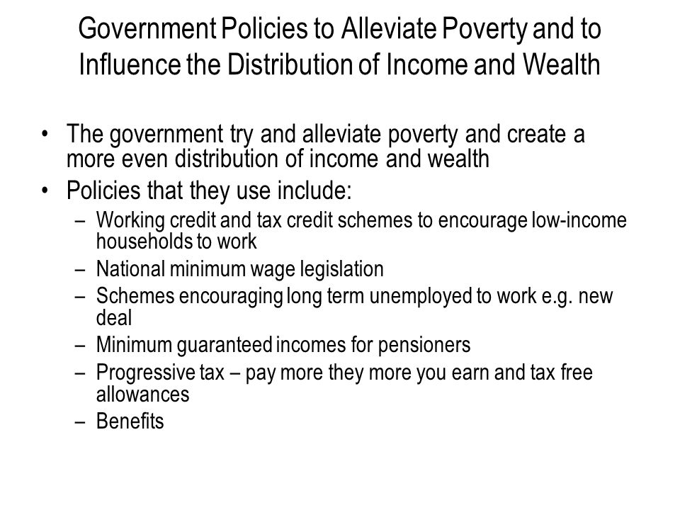poverty and government policies Here's how the government keeps native americans in poverty as a result of the government's allotment policies of the by forbes the.