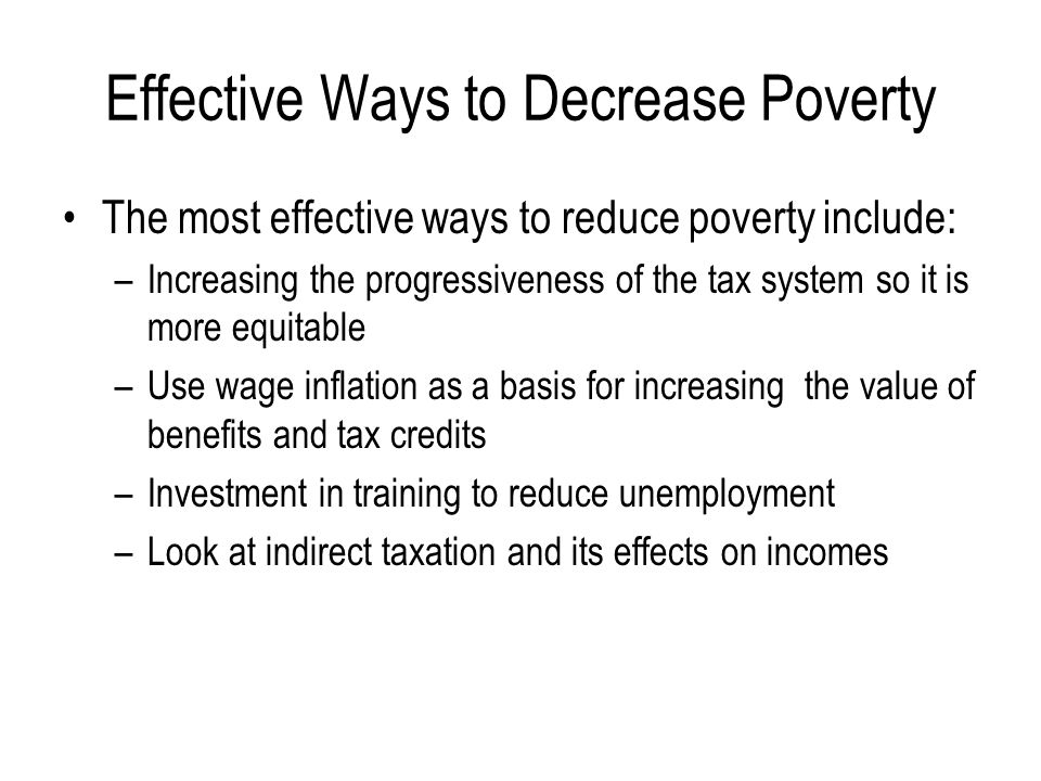 Effective Ways to Decrease Poverty