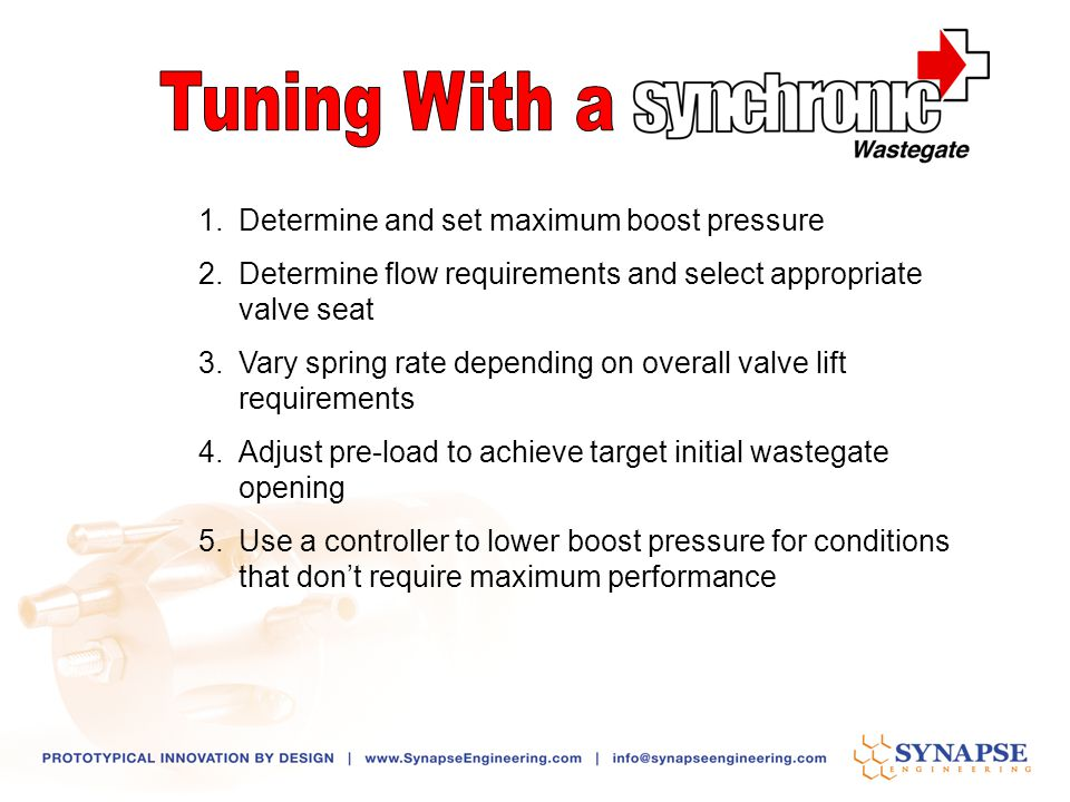 Tuning With a Determine and set maximum boost pressure