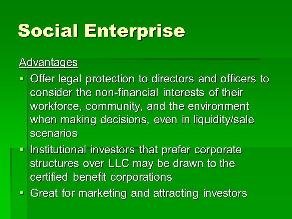 Social Enterprise Advantages