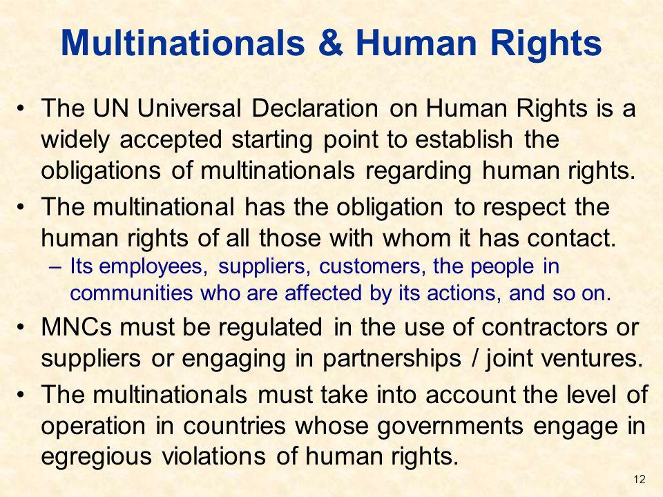 Multinationals & Human Rights