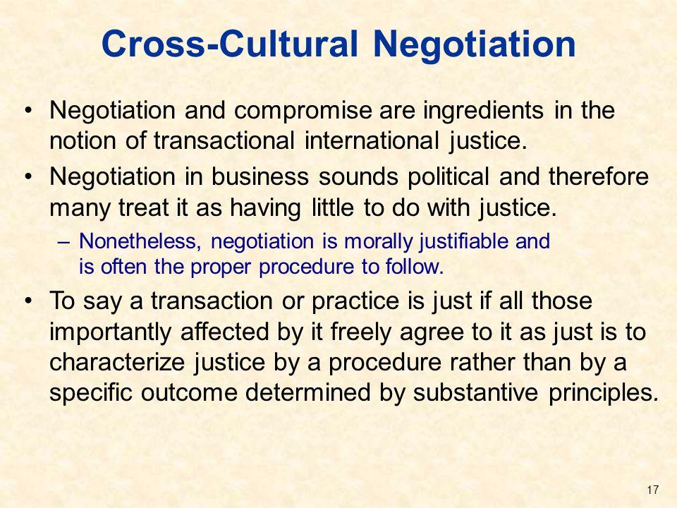 Cross-Cultural Negotiation