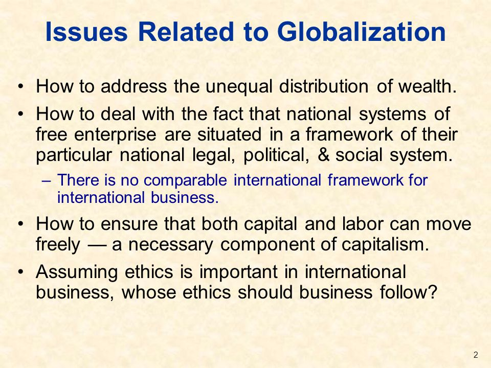 Issues Related to Globalization