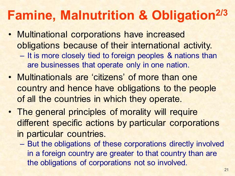Famine, Malnutrition & Obligation2/3