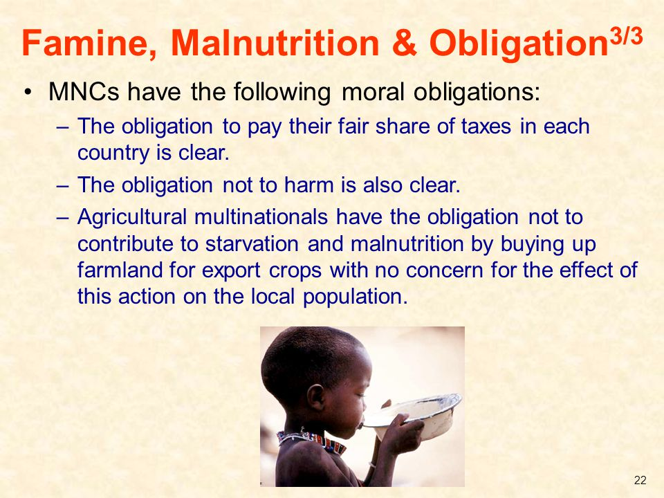 Famine, Malnutrition & Obligation3/3
