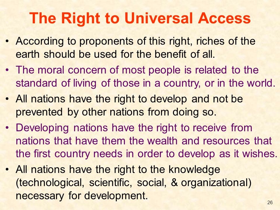The Right to Universal Access