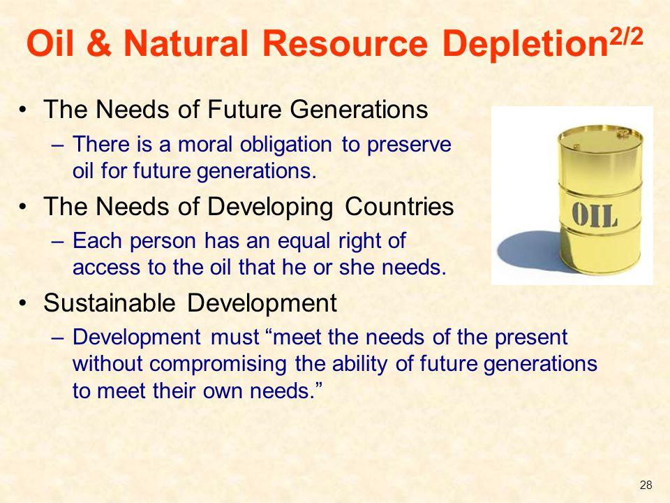 Oil & Natural Resource Depletion2/2