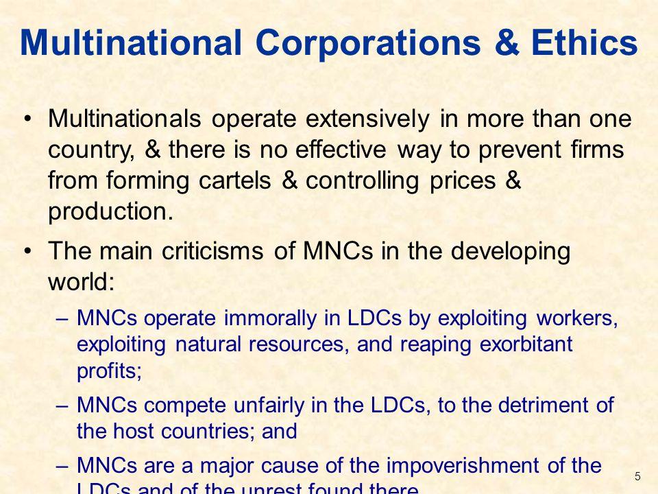 Multinational Corporations & Ethics
