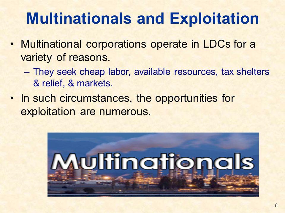 Multinationals and Exploitation