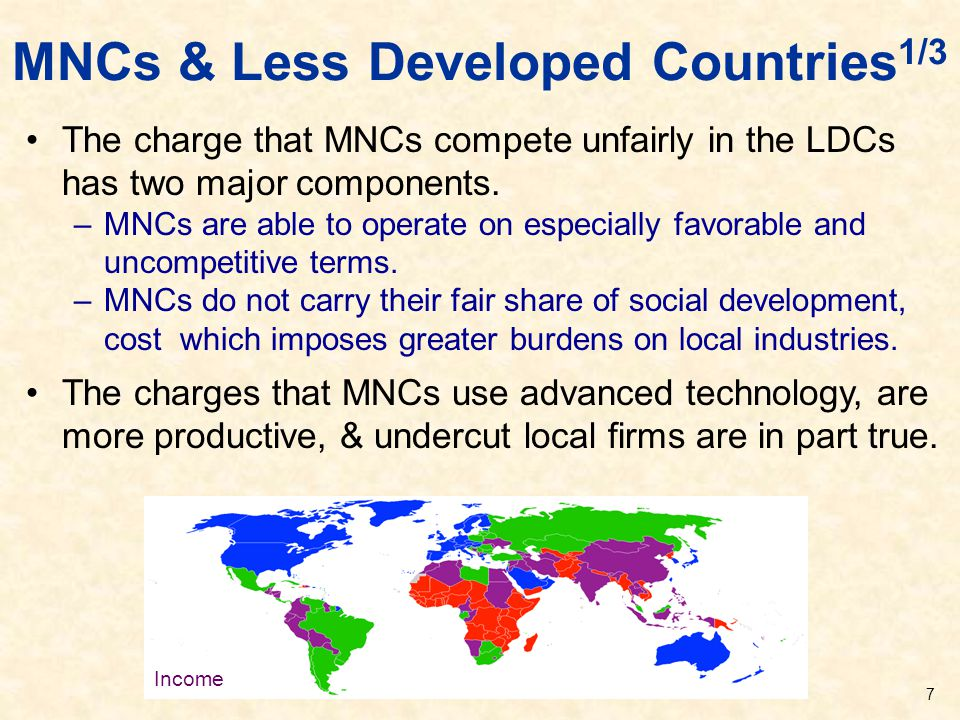 MNCs & Less Developed Countries1/3