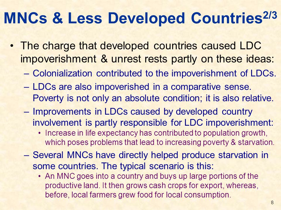 MNCs & Less Developed Countries2/3
