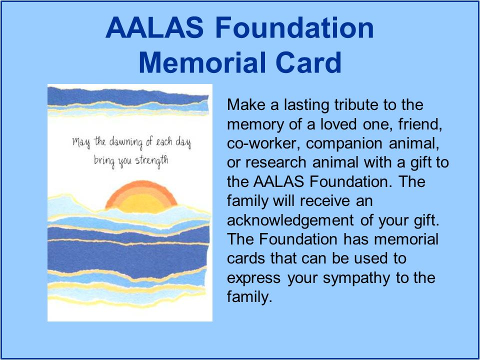 AALAS Foundation Memorial Card