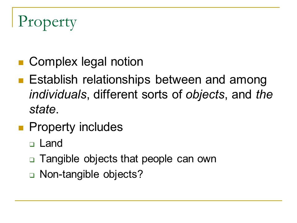 Property Complex legal notion
