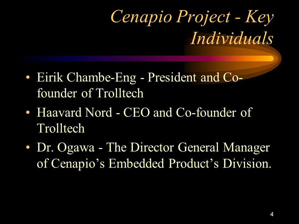 Cenapio Project - Key Individuals