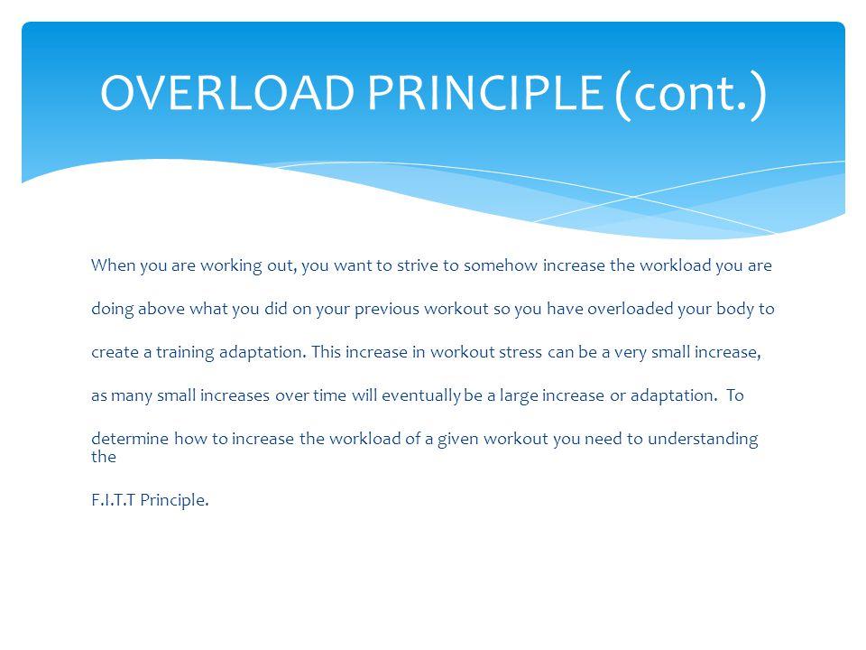 OVERLOAD PRINCIPLE (cont.)