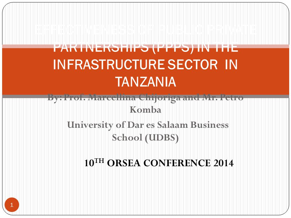 University of Dar es Salaam Business School (UDBS)