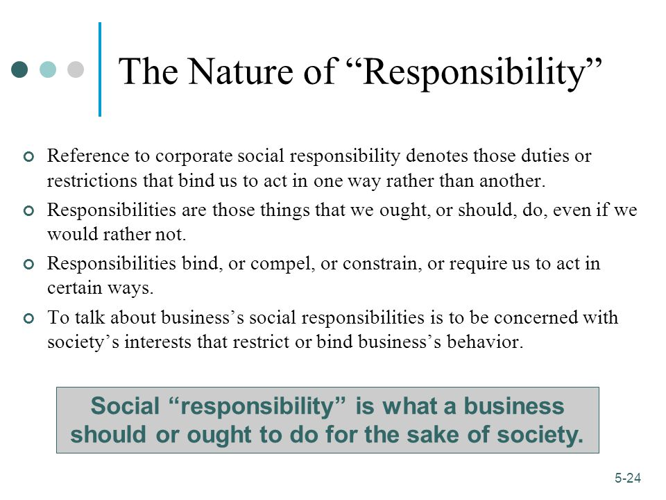 The Nature of Responsibility
