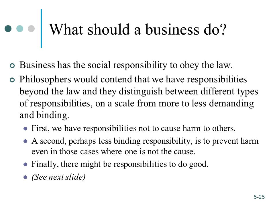 What should a business do