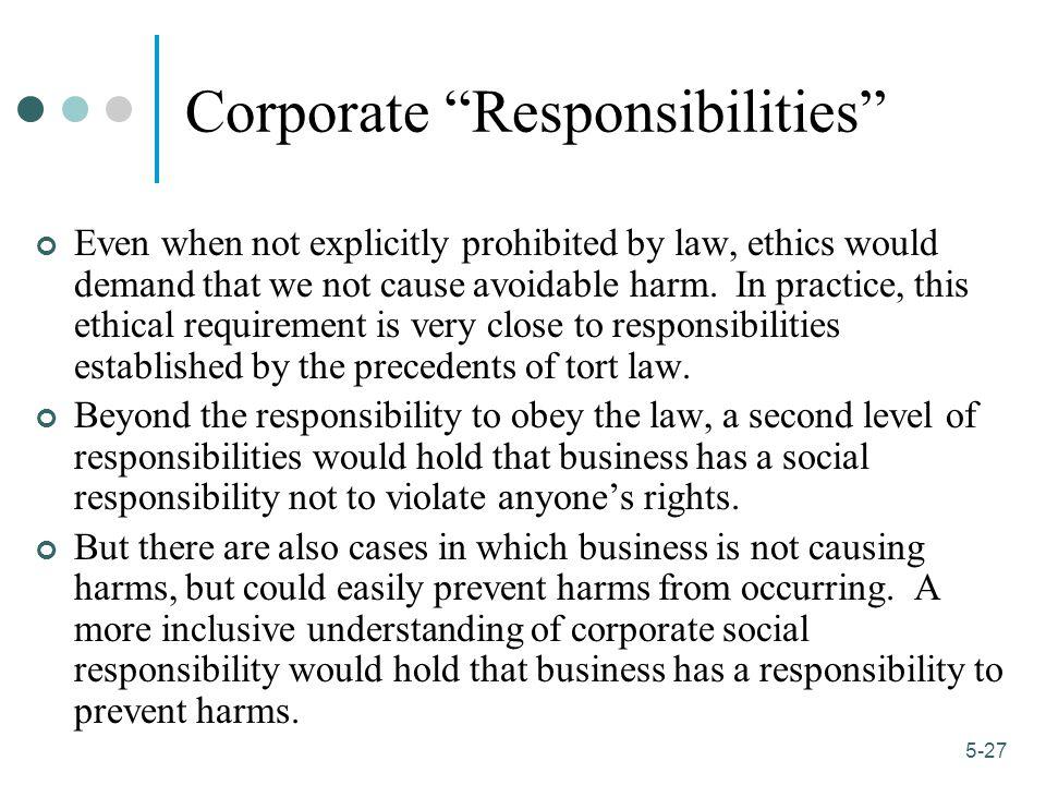 Corporate Responsibilities