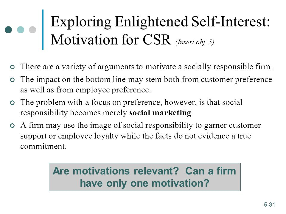 Are motivations relevant Can a firm have only one motivation