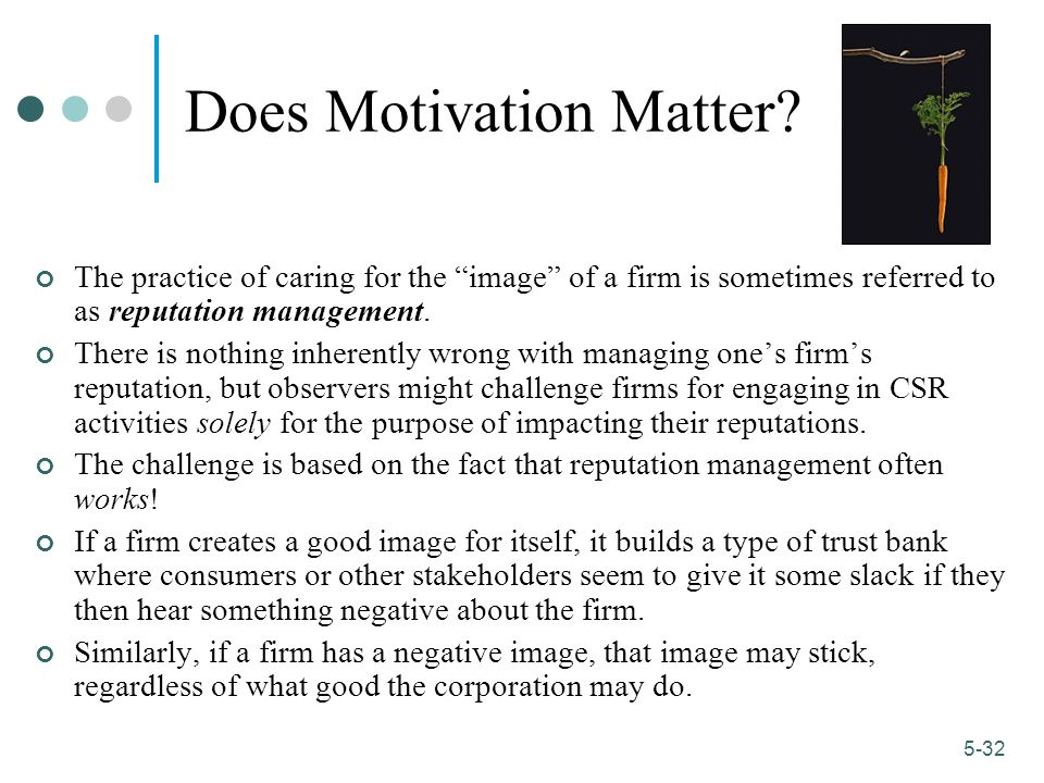 Does Motivation Matter