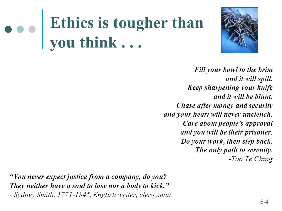 Ethics is tougher than you think . . .
