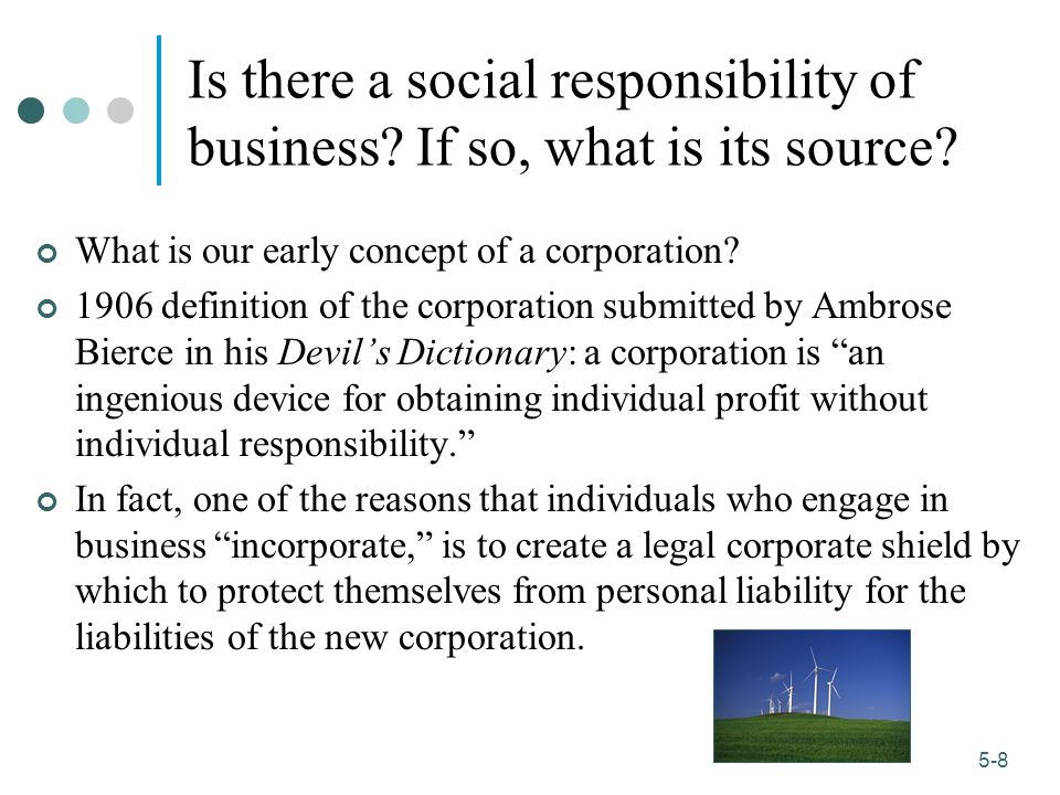 Is there a social responsibility of business If so, what is its source