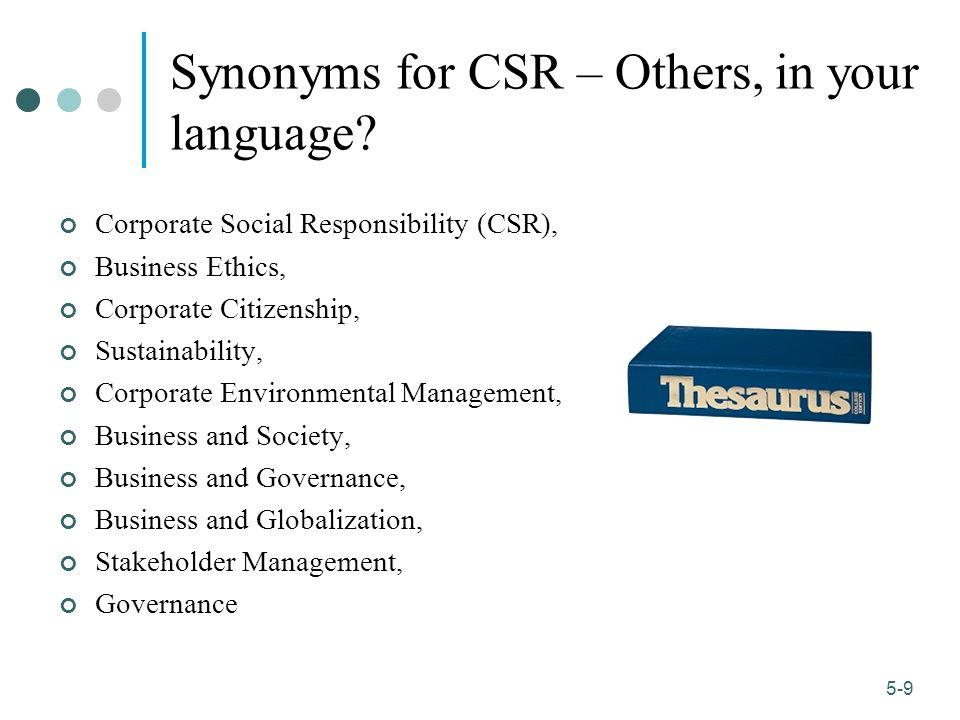Synonyms for CSR – Others, in your language