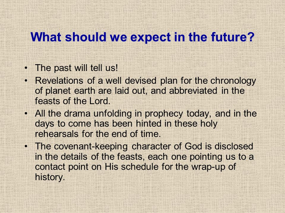 What should we expect in the future