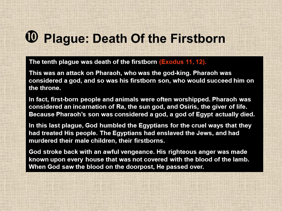  Plague: Death Of the Firstborn