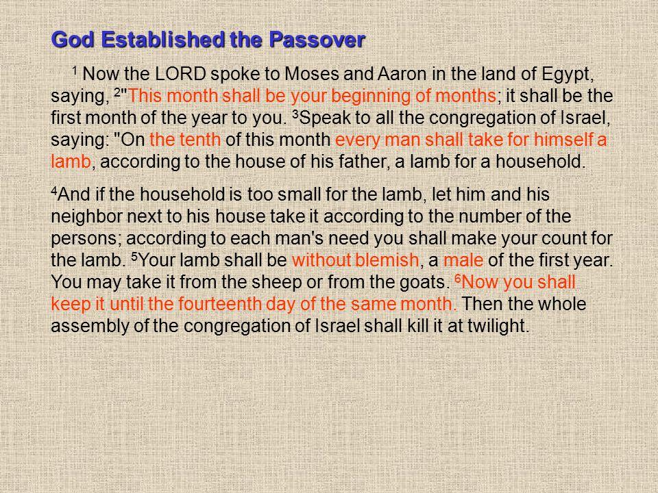God Established the Passover