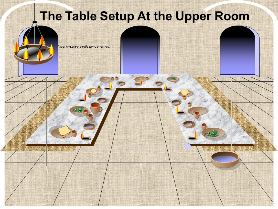The Table Setup At the Upper Room