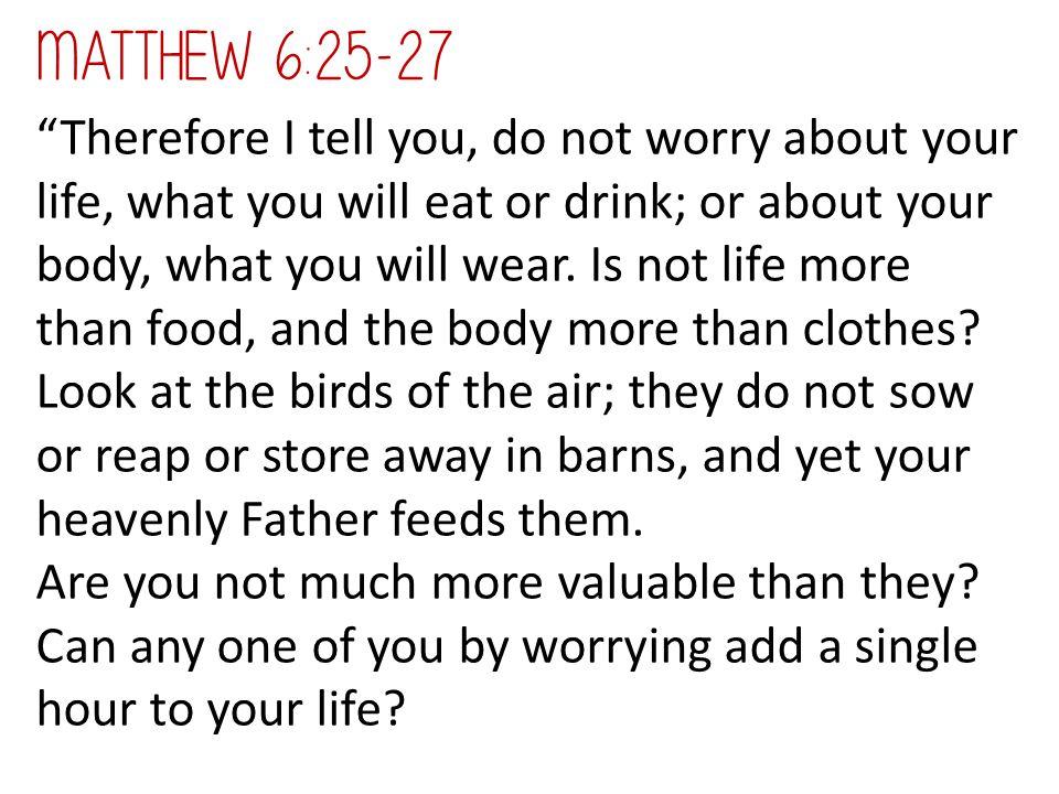Matthew 6:25-27