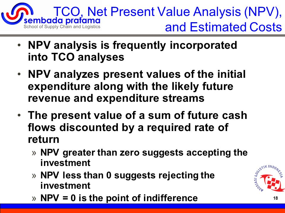 TCO, Net Present Value Analysis (NPV), and Estimated Costs